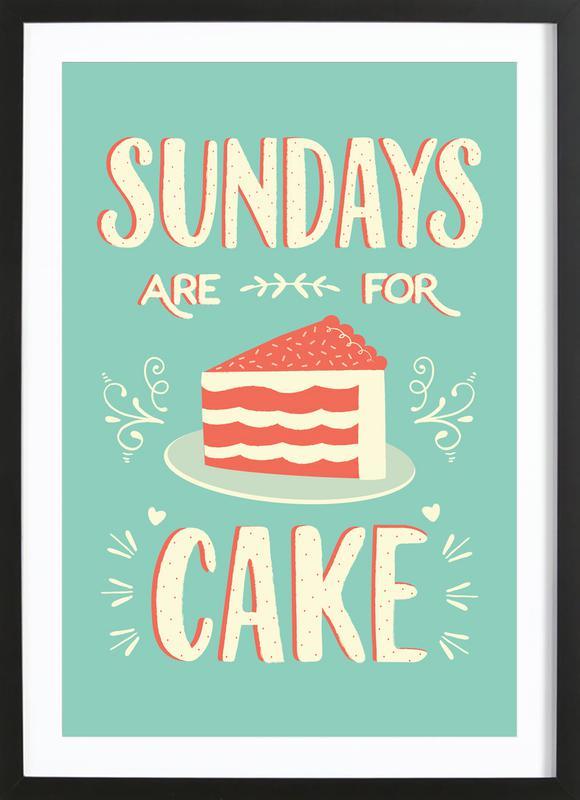 Sundays Are For Cake ingelijste print