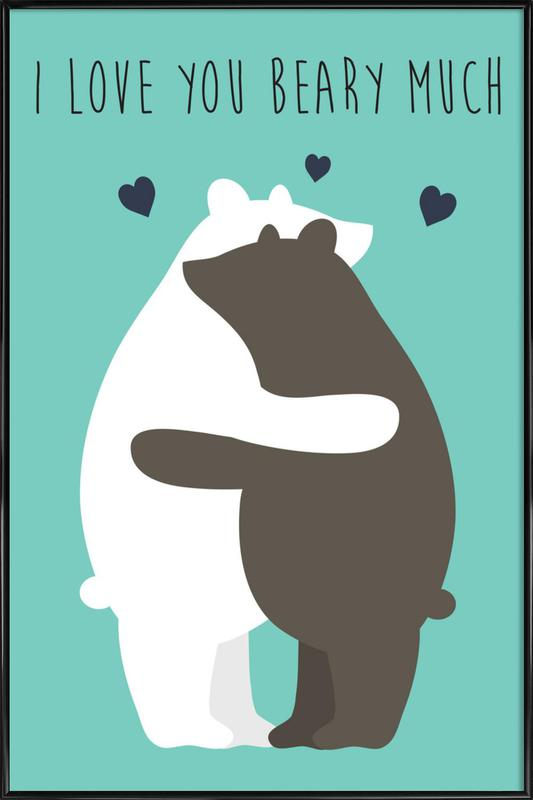 I Love You Beary Much affiche encadrée