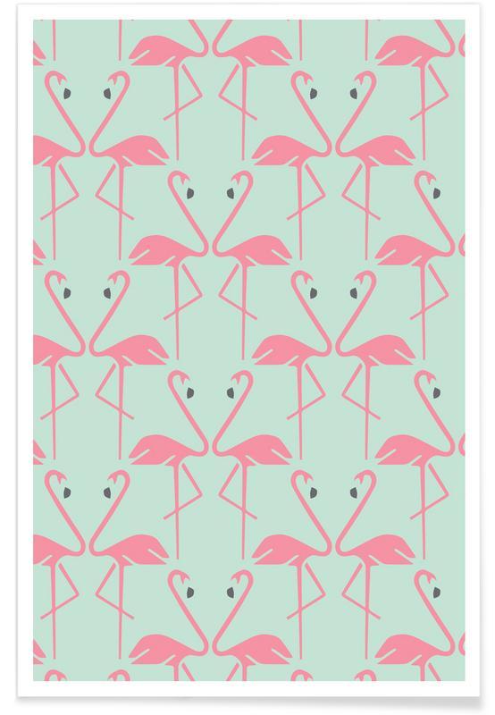 Flamingos, Pink Flamingos Poster