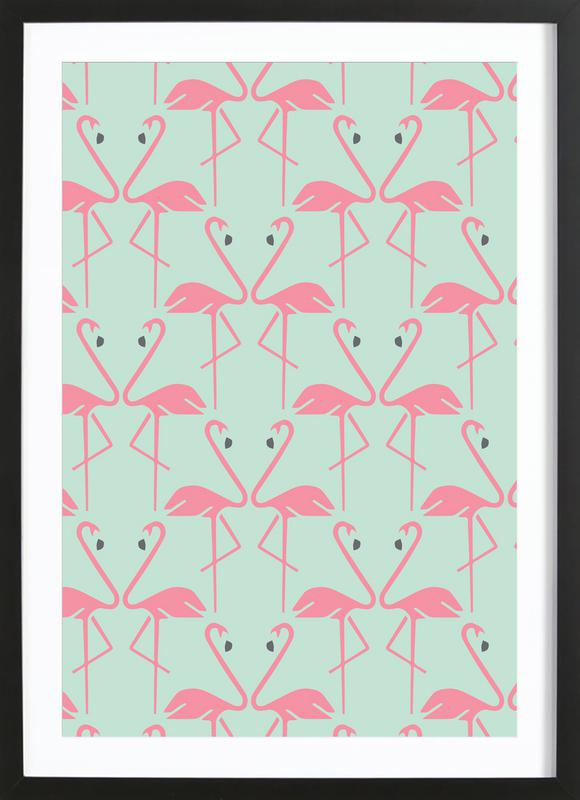 Pink Flamingos Framed Print