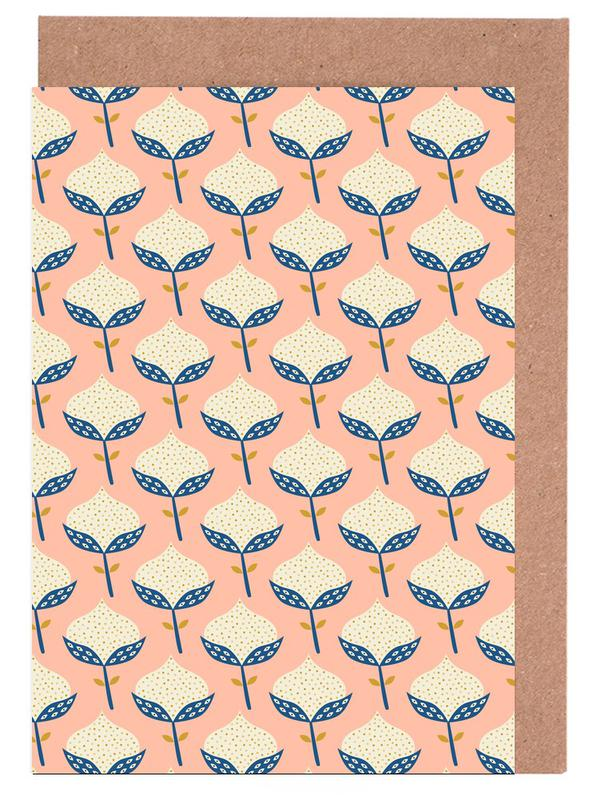 Scandinavian Flower Pattern Greeting Card Set