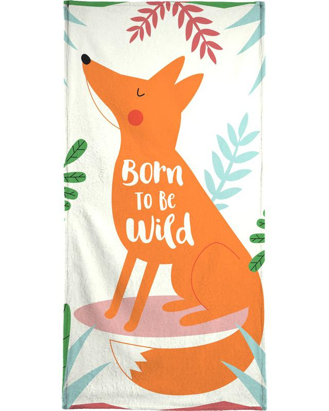 Born to Be Wild Fox Bath Towel