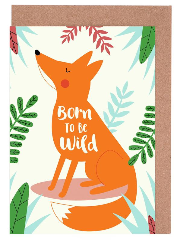 Born to Be Wild Fox Greeting Card Set