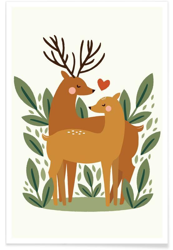 Couples, Anniversaries & Love, Valentine's Day, Deer, Deer Love Poster