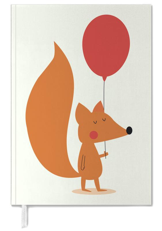 Fox with a Red Balloon Personal Planner