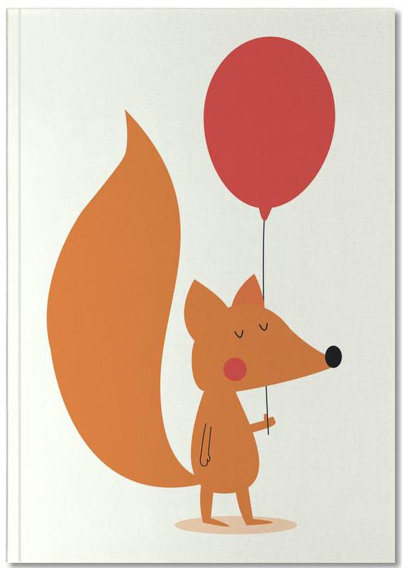 Birthdays, Nursery & Art for Kids, Congratulations, Foxes, Fox with a Red Balloon Notebook