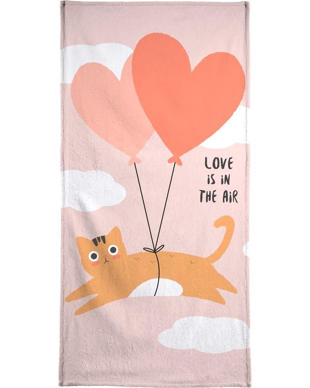 Jubileums en liefde, Valentijnsdag, Liefdescitaten, Katten, Love Is in the Air strandlaken