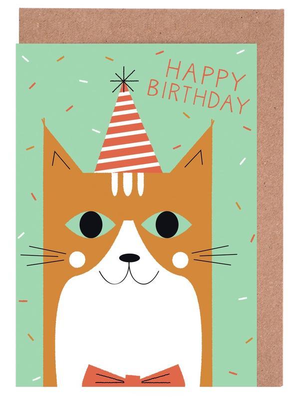 Happy Cat Birthday cartes de vœux