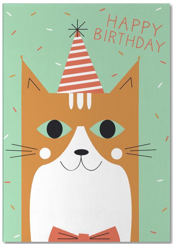 Happy Cat Birthday Notepad