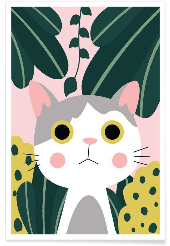 Katten, Kunst voor kinderen, Jungle Cat poster