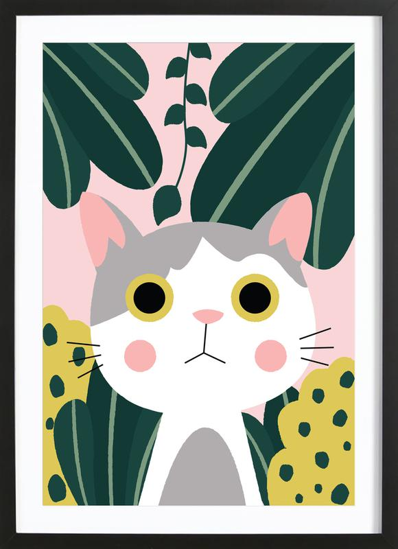 Jungle Cat Framed Print Juniqe