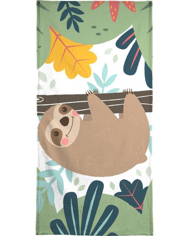 Art pour enfants, Paresseux, Sloth serviette de bain