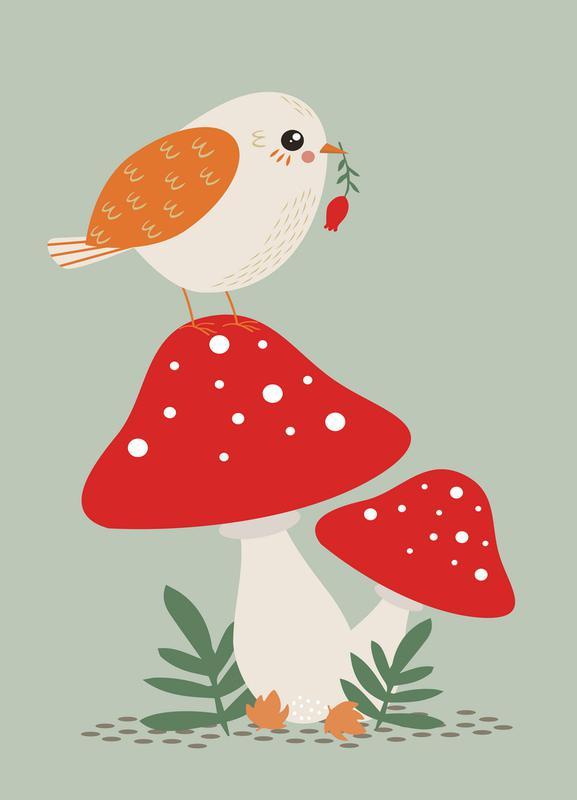 Autumn Bird -Leinwandbild