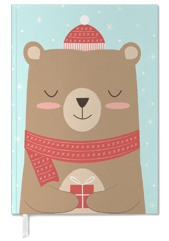 Noël, Ours, Art pour enfants, Merry Christmas Bear agenda