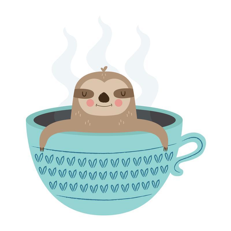 Sloth in A Cup -Acrylglasbild