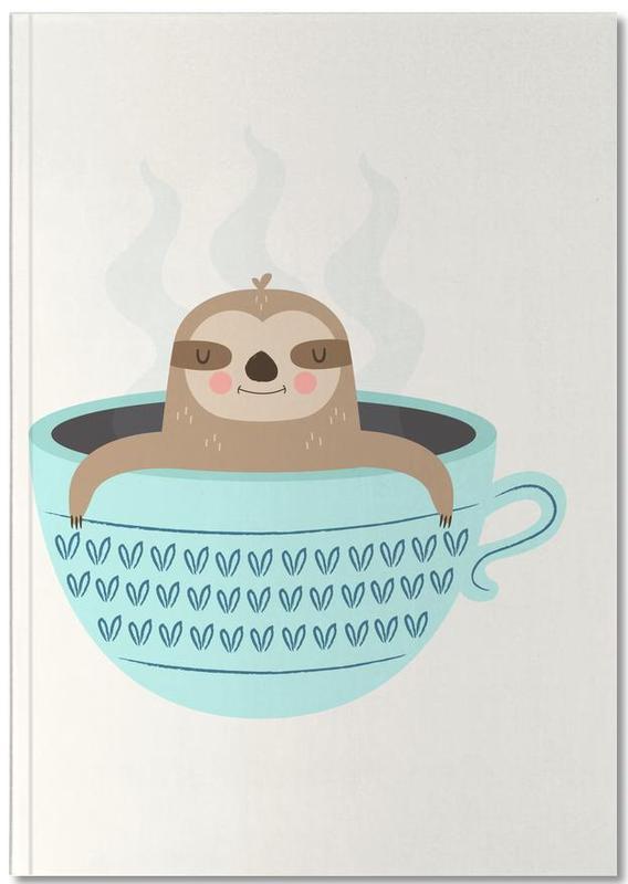 Kunst voor kinderen, Luiaards, Sloth in A Cup Notebook