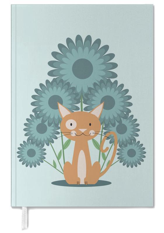 Chats, Art pour enfants, Cat In The Flowerfield agenda