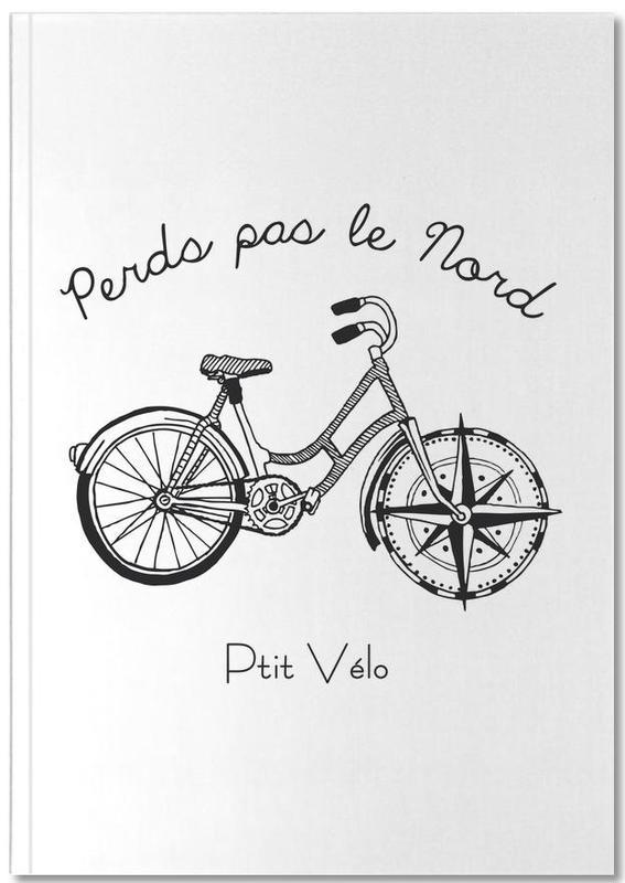 Fahrräder, Reise, Schwarz & Weiß, Perds Par Le Nord Noir Notebook
