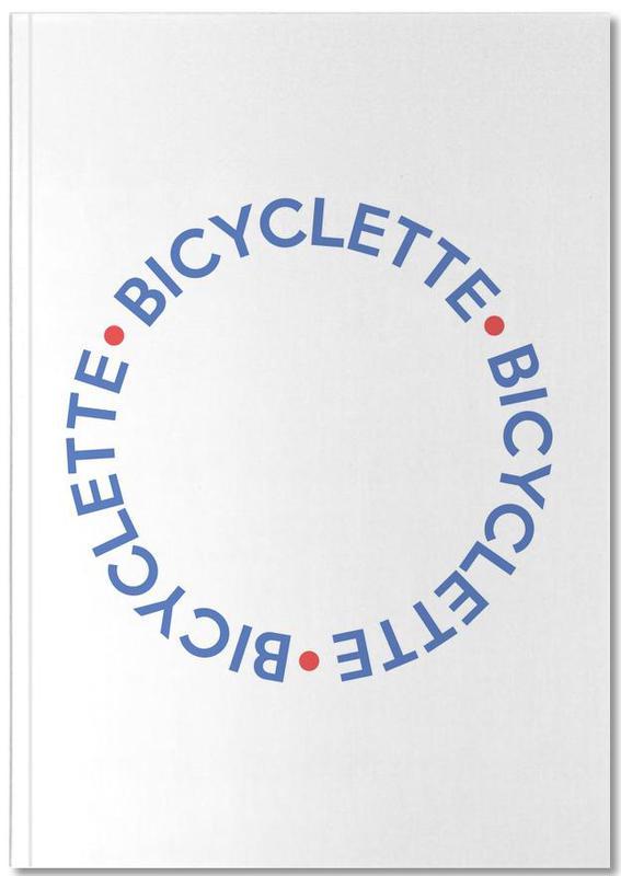 Fahrräder, Zitate & Slogans, Bicyclette Bleu Rouge Notebook