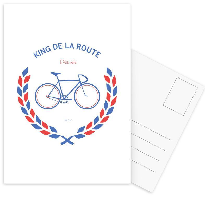 King Bleu Rouge cartes postales