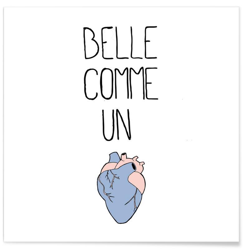 Love Quotes, Quotes & Slogans, Belle cœur Poster