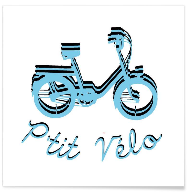 Bicycles, Logo P'tit Vélo Poster
