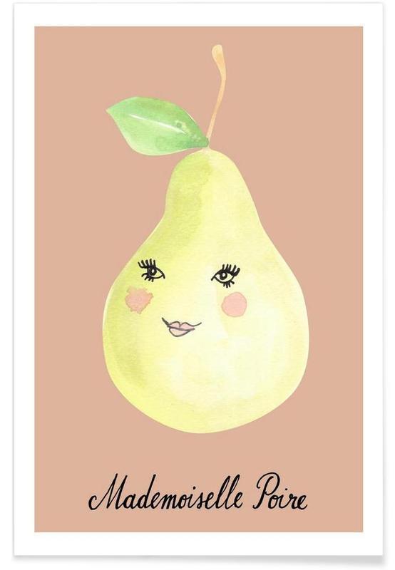 Kunst voor kinderen, Peren, Mademoiselle Poire poster