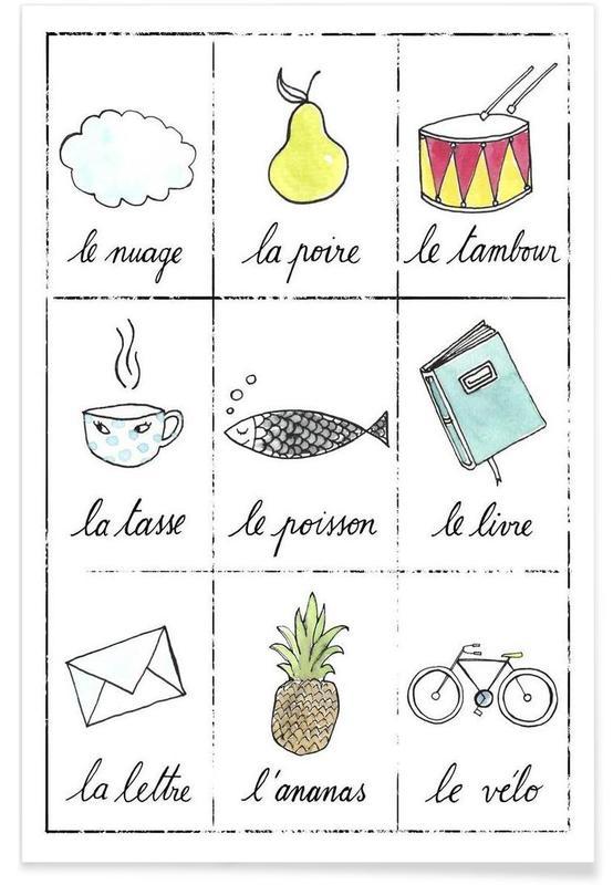 Kunst voor kinderen, Petit cours de français 1 poster