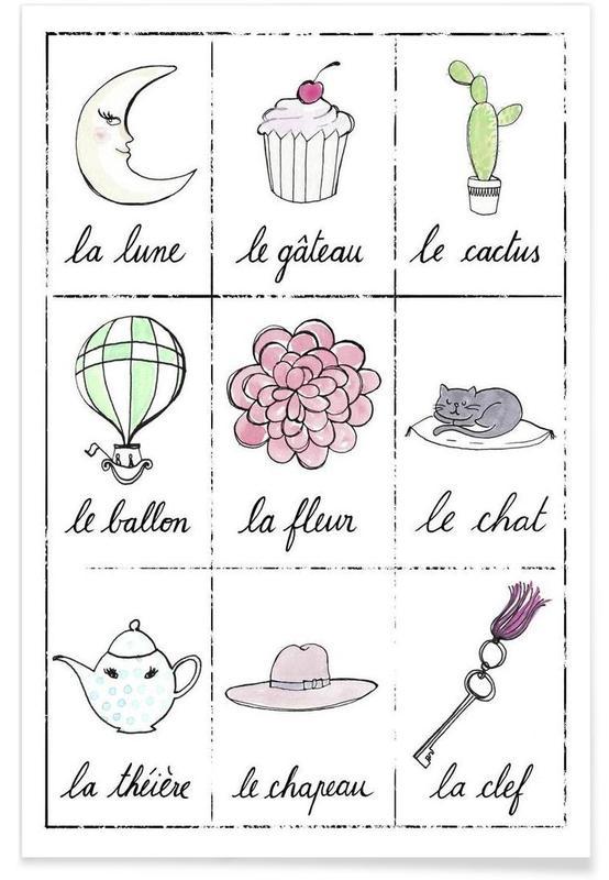 Kunst voor kinderen, Petit cours de français 2 poster
