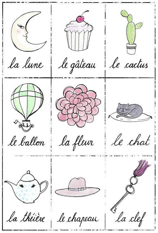 Petit cours de français 2 tableau en verre