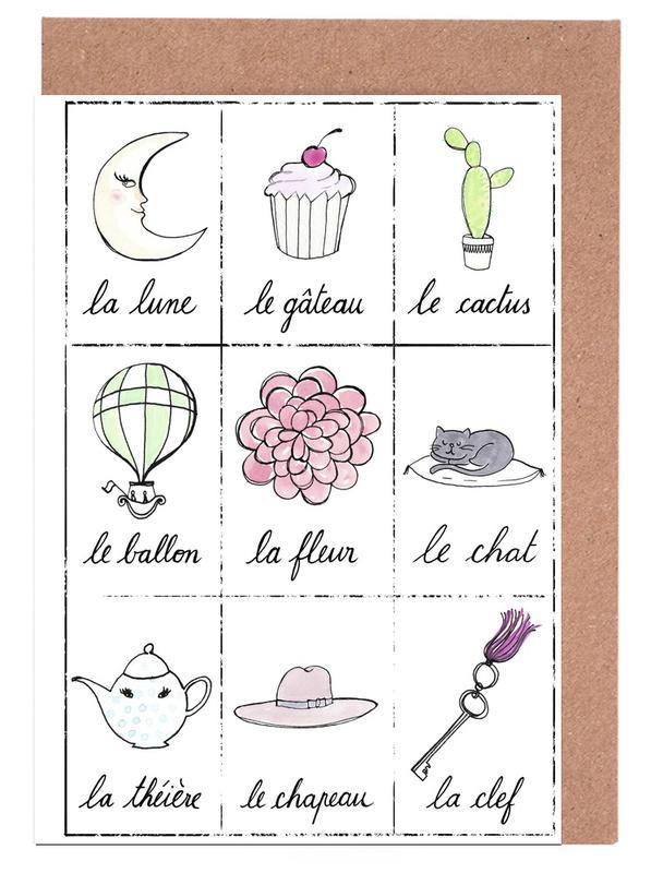 Kunst voor kinderen, Petit cours de français 2 wenskaartenset