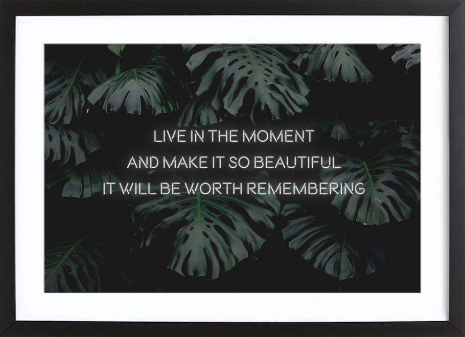 Live in the moment Framed Print