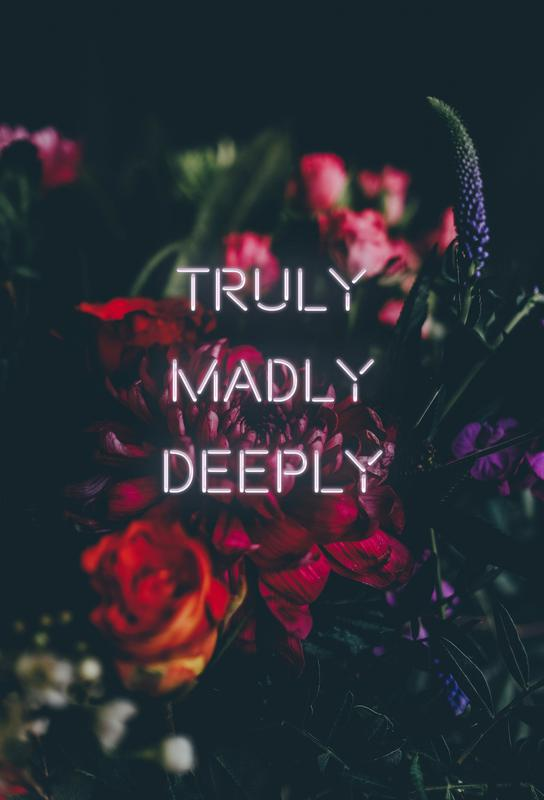 Truly Madly Deeply Acrylic Print
