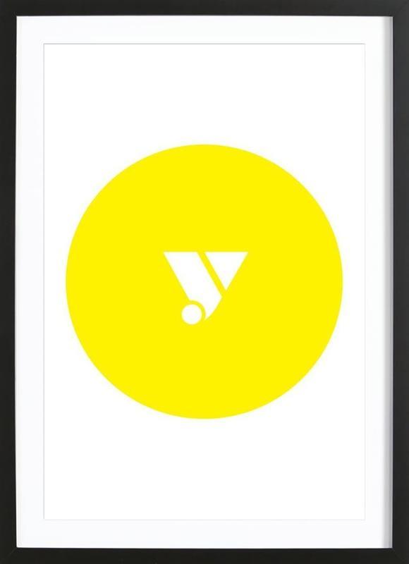 Yellow -Bild mit Holzrahmen