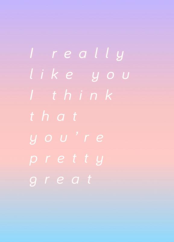 I Think You Are Great Canvas Print