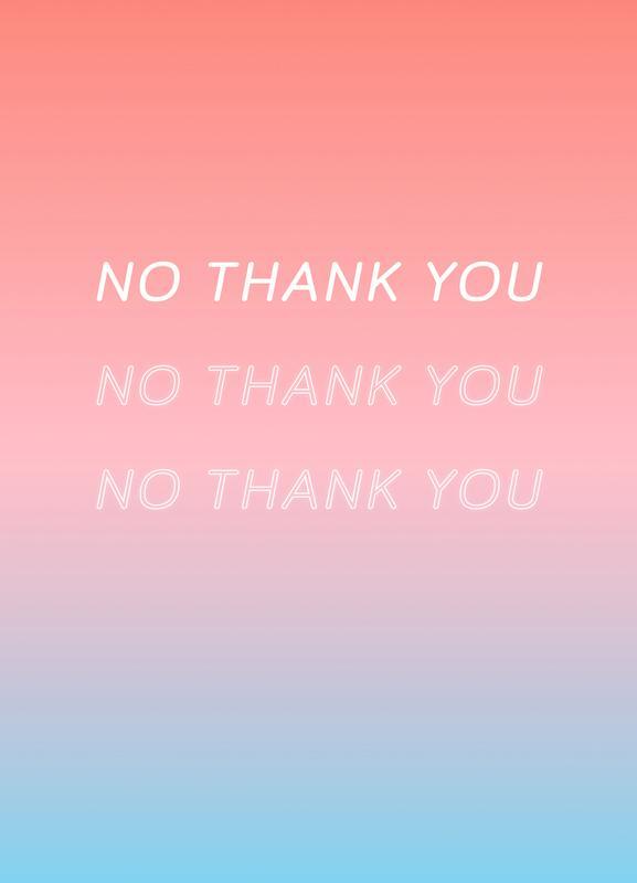 No Thank You Canvas Print