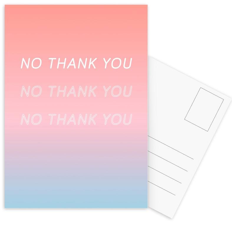 No Thank You -Postkartenset