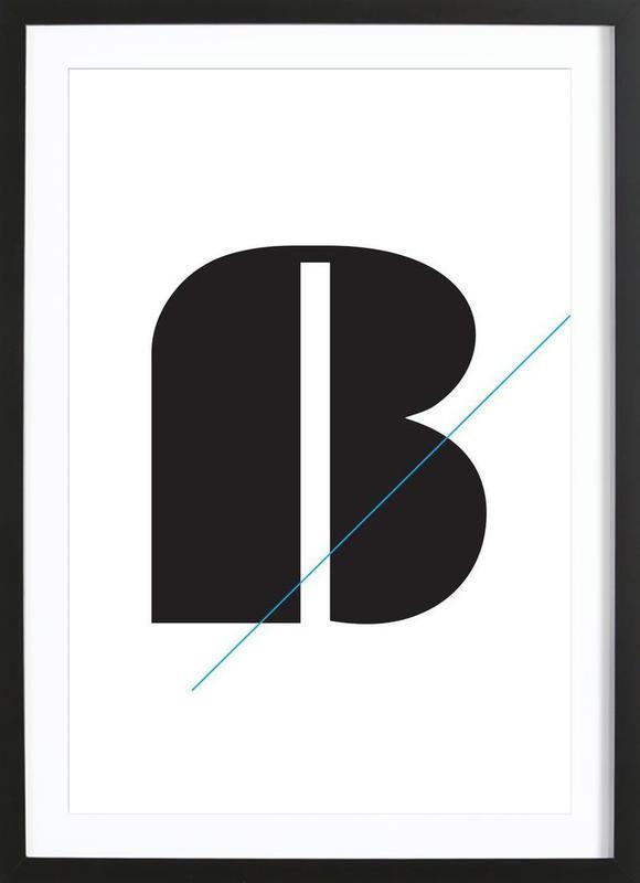 Eszet in black Framed Print
