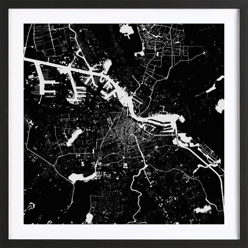 Amsterdam Black Framed Print