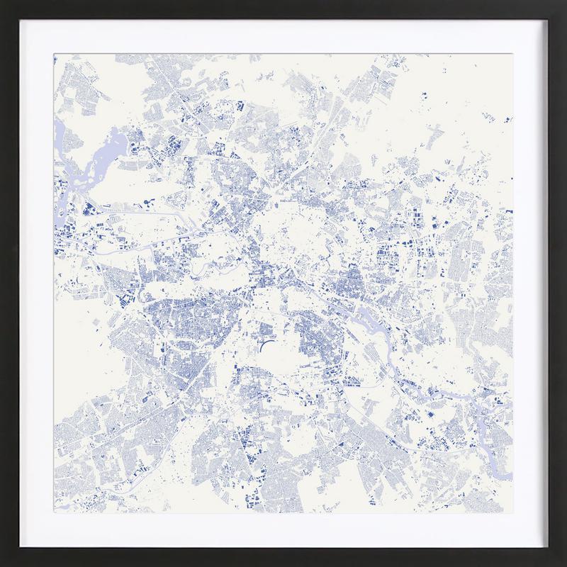 Berlin Blue Framed Print