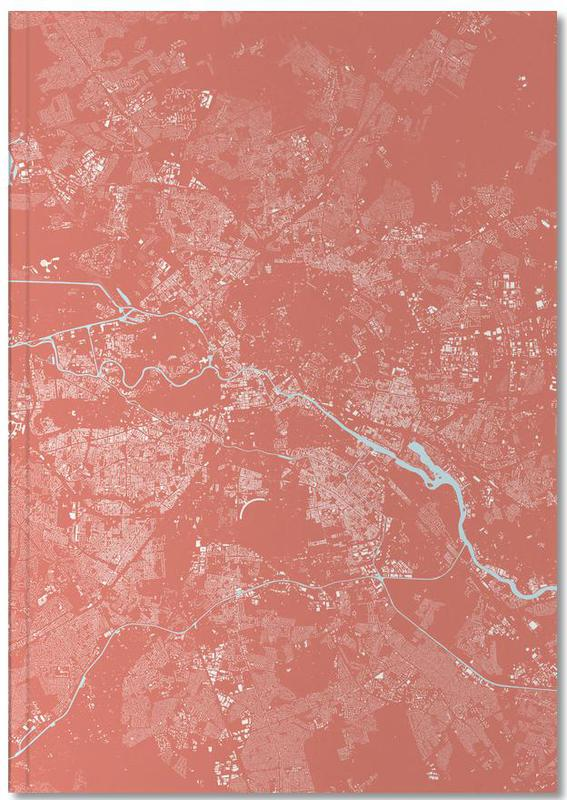 Berlin, Cartes de villes, Berlin Pink Notebook