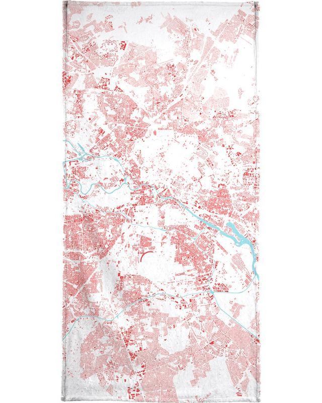 Berlin Red Bath Towel