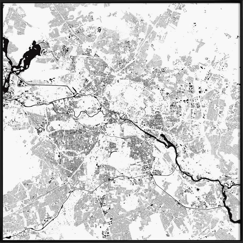 Berlin White -Bild mit Kunststoffrahmen