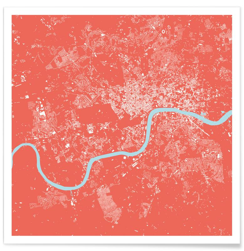 Stadskaarten, Londen, London Pink poster