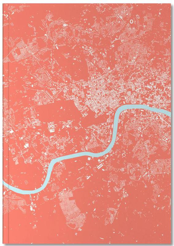 City Maps, London, London Pink Notebook