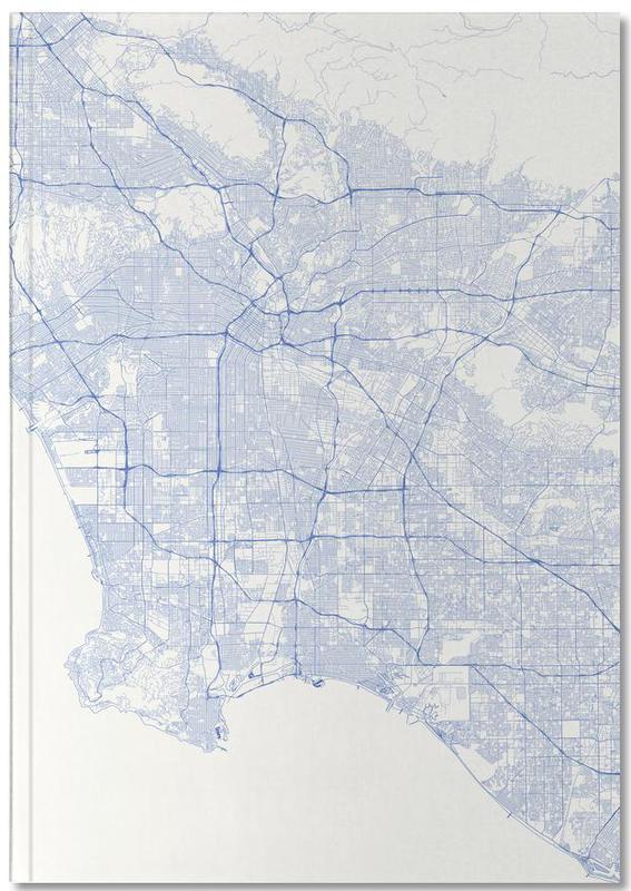 Cartes de villes, Los Angeles, Traffic Los Angeles Blue Notebook