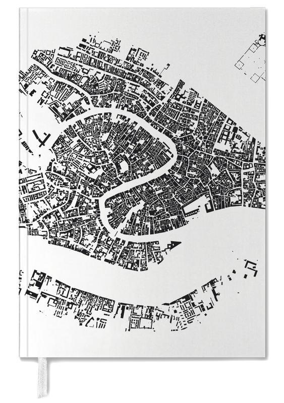 Stadskaarten, Venetië, Zwart en wit, Venice White agenda