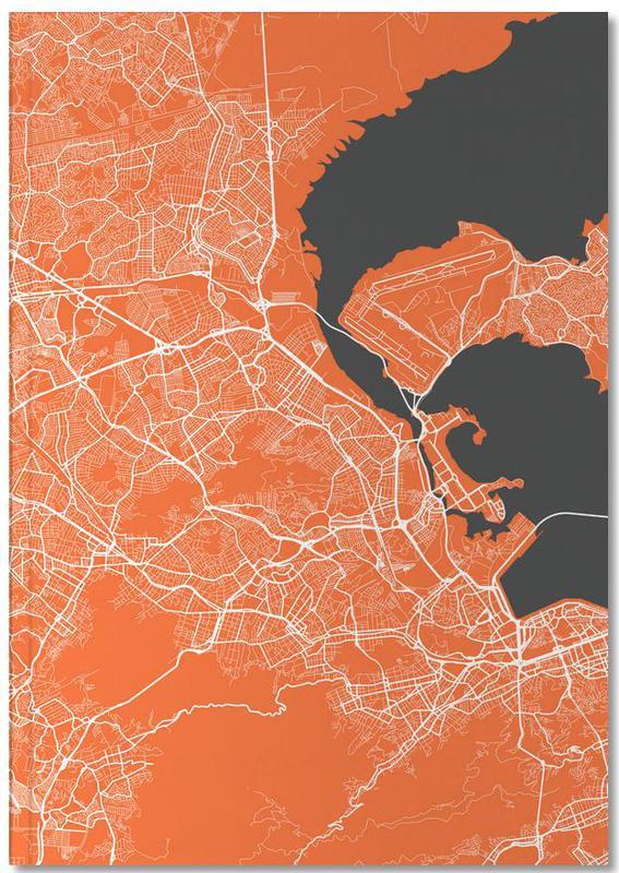 Rio de Janeiro, Cartes de villes, Rio Red Notebook