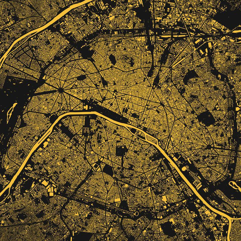 Paris Yellow toile