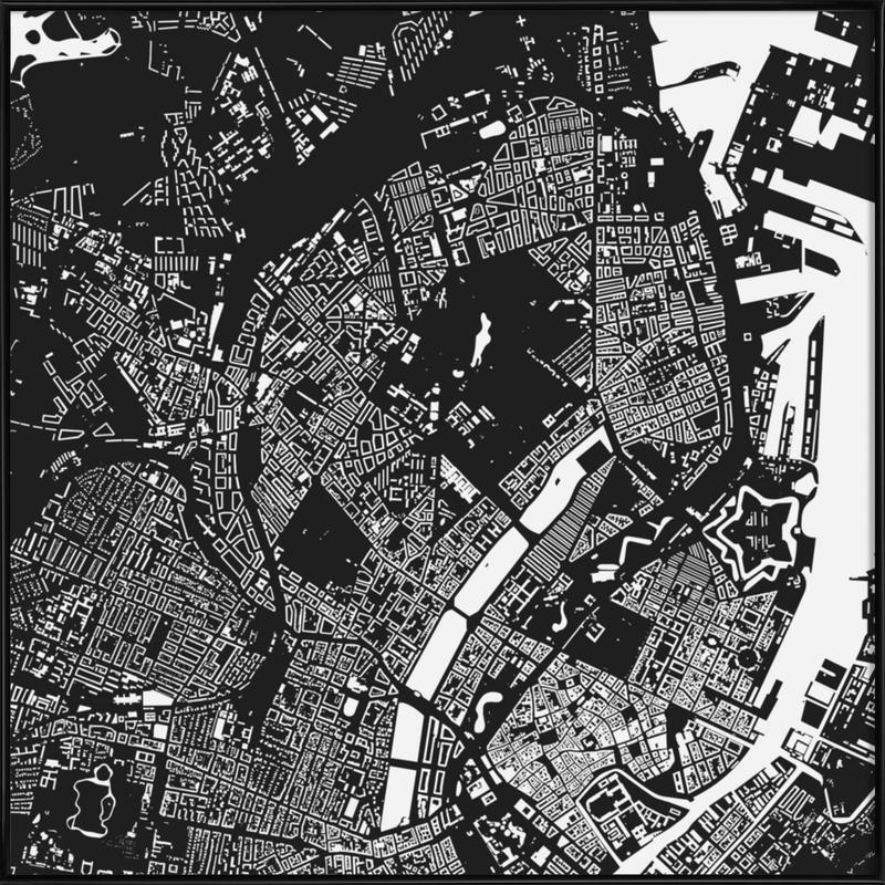 Copenhagen Black -Bild mit Kunststoffrahmen